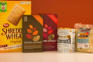 Shredded Wheat, Dorset Cereals, John McCann's Irish Oatmeal, Bob's Red Mill Thick Cut Oatmeal