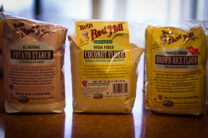 Bob's Red Mill Potato Starch, Coconut Flour, and Brown Rice Flour